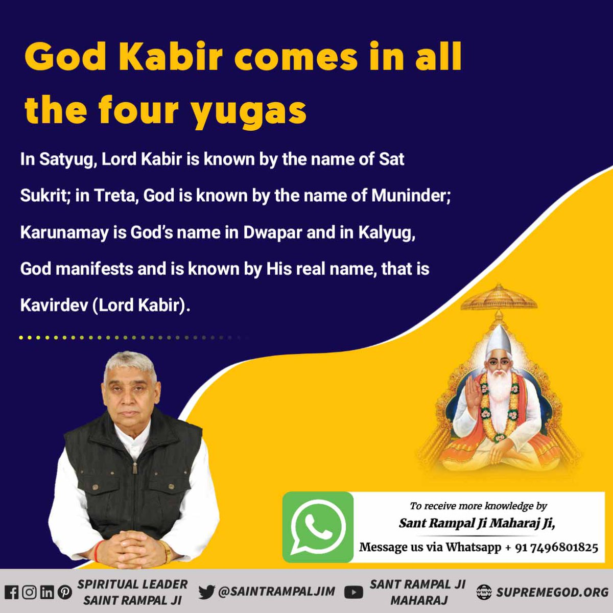 The name of God is Kavir Dev i.e. Kabir Parameshwara, who has created everything.  The God who is immovable means truly imperishable.   - Holy Atharvaveda Scandal 4 Anuvak 1 Mantra 7   #SupremeGodKabir