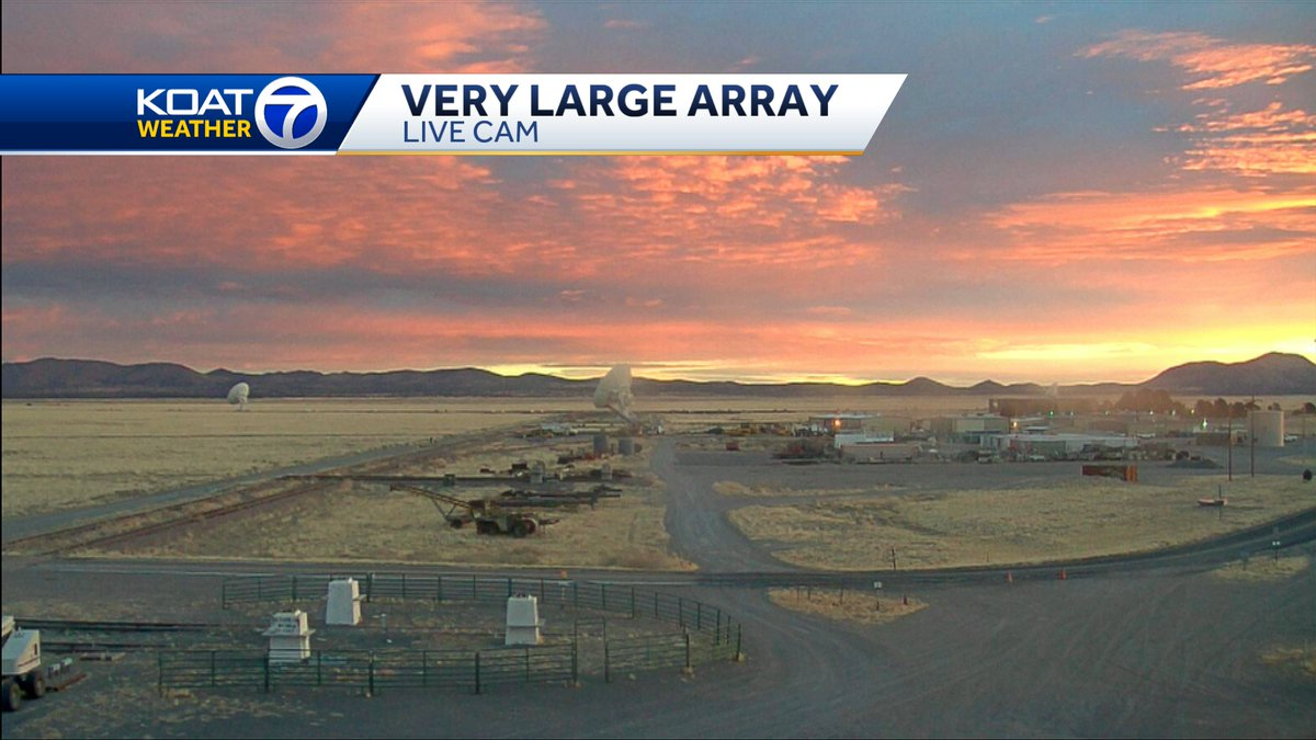 Nicely done #VeryLargeArray @TheNRAO #sunrise #SaturdayMorning  #NMwx #NewMexico @koat7news