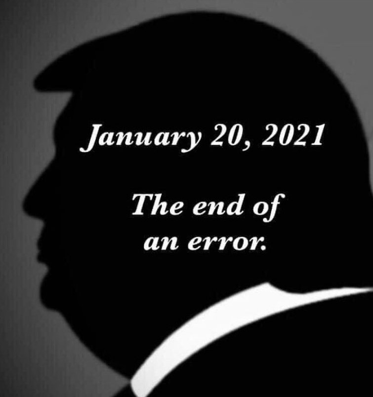 Replying to @deejay90192: In 4 days will be the end of a HUGE error. #Inauguration2021