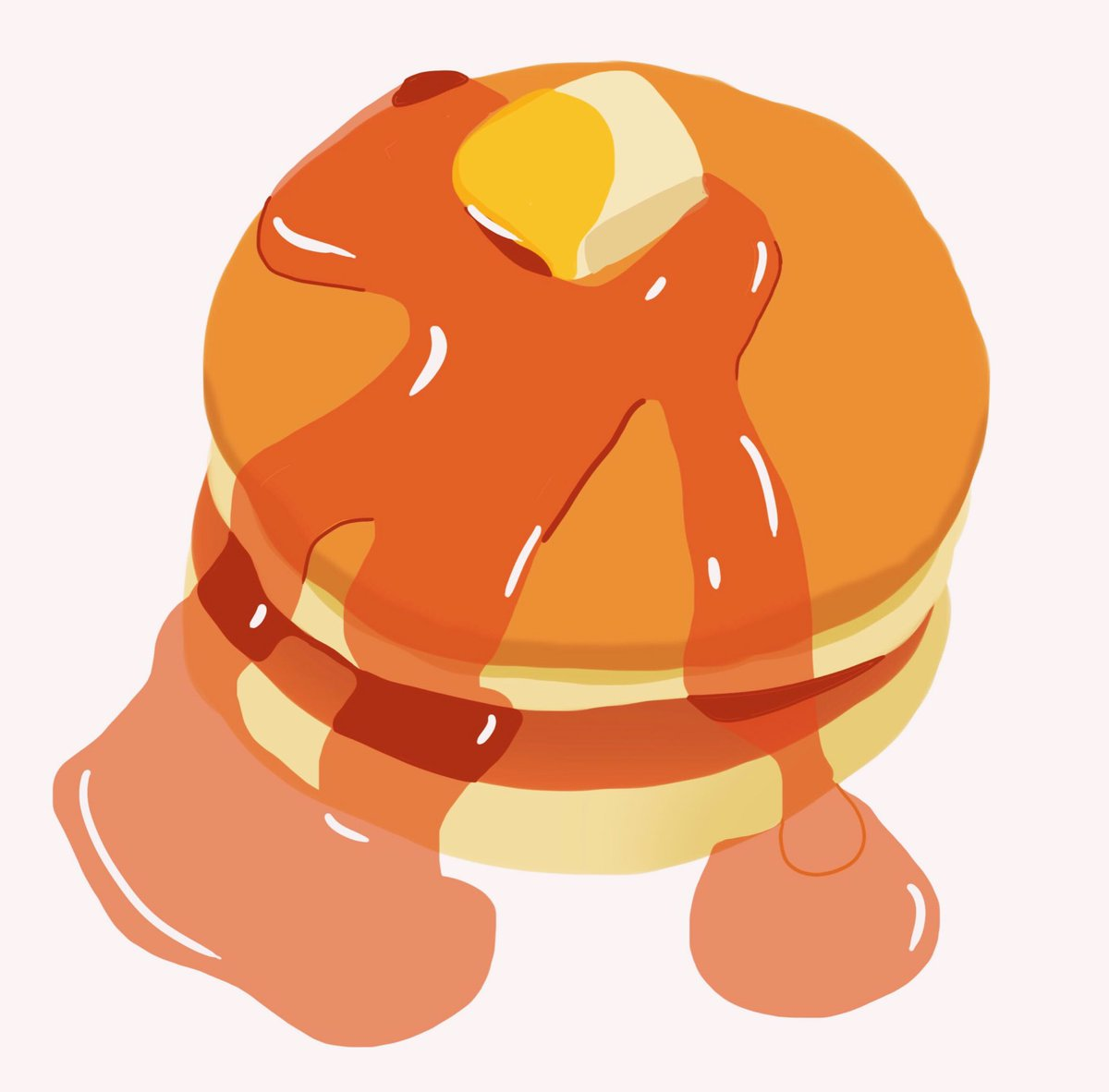 パンケーキを練習した🥞#イラスト #イラスト初心者 #アニメ好きと繋がりたい #イラスト好きな人と繋がりたい #漫画好きな人と繋がりたい #パンケーキ #食べたい #落書き #food #sweets #dessert #illustration #illust #draw #pixiv #drawing #pixelart #doodle #pancake #絵 #みかじ絵