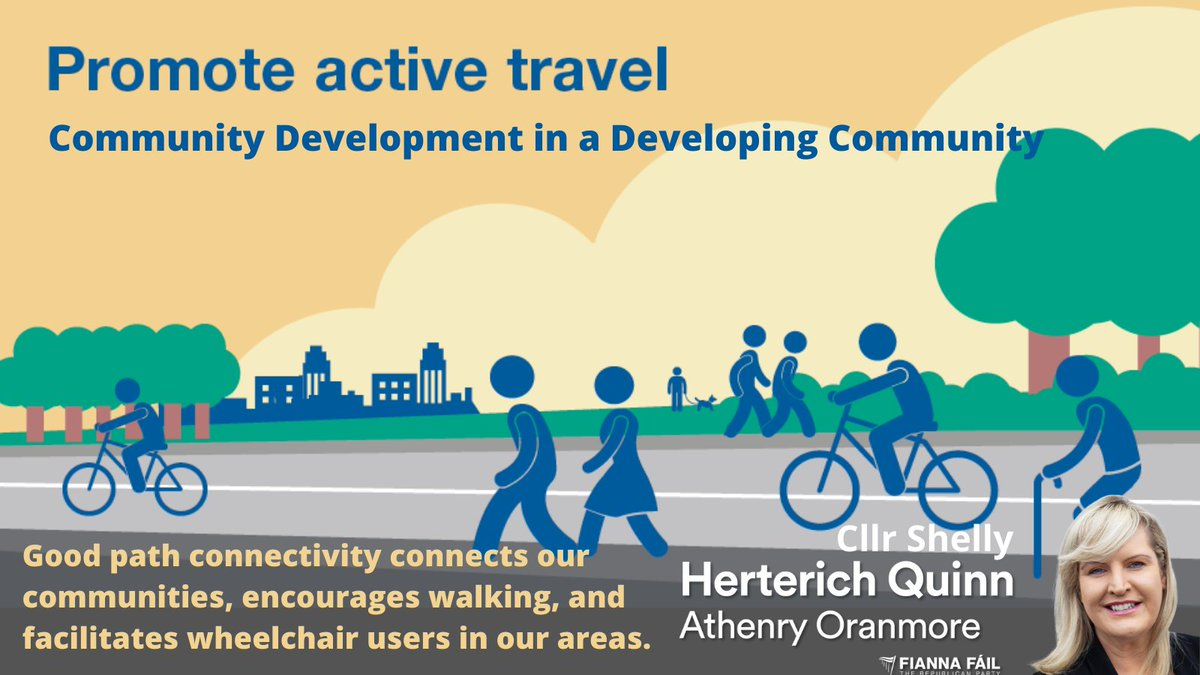 €50m for #ActiveTravel measures in our towns and villages.  Thank you to everyone who engaged with me on our #WishList for #Athenry and #Oranmore. Looking forward to positive changes to connect us all. @fiannafailparty @greenparty_ie @FineGael