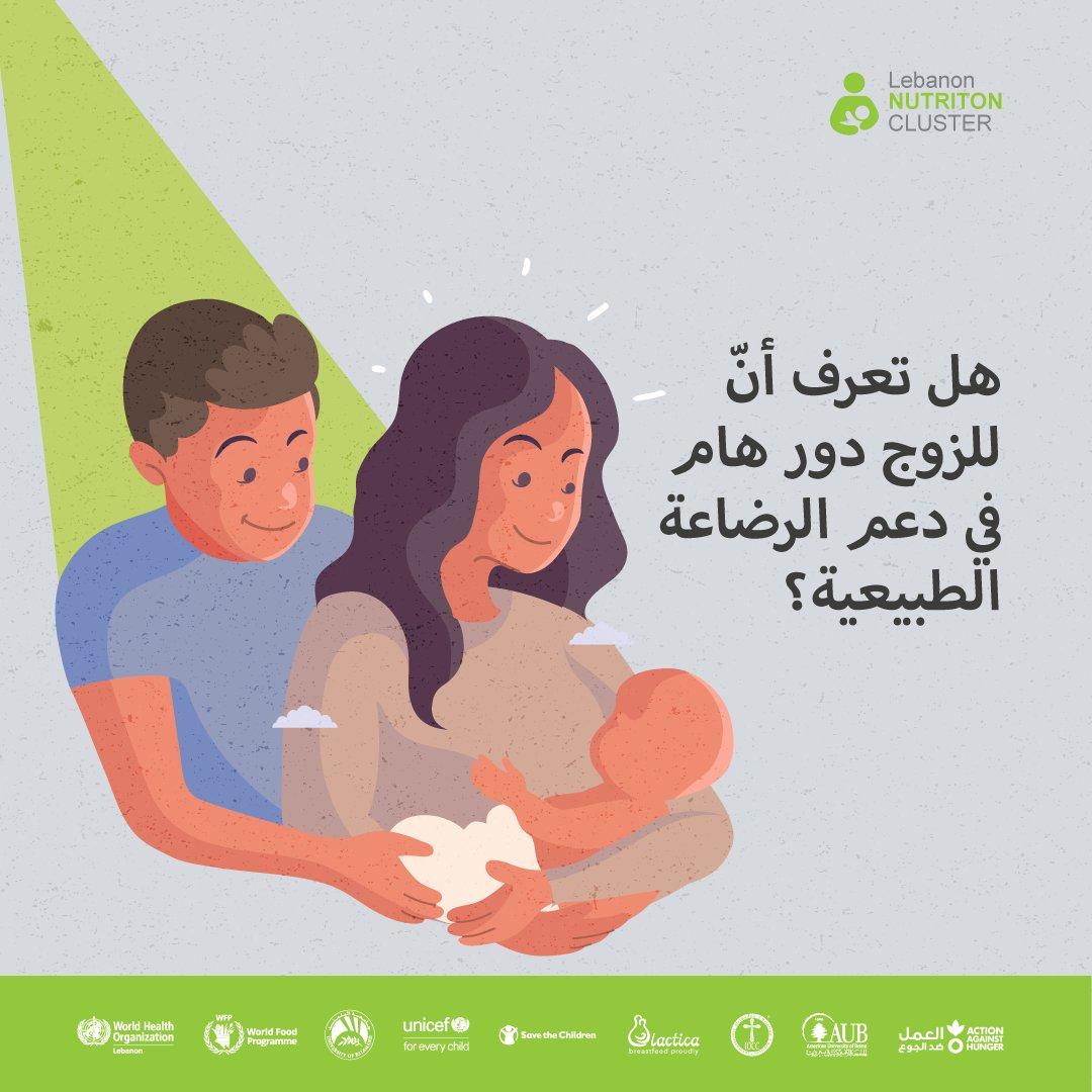هل تعرف أنّ للزوج دور هام في دعم الرضاعة الطبيعية؟ إنّ الرضاعة الطبيعية هي الخيار الطبيعي المفضل للتغذية لجميع  الاطفال الرضع ويعتبر دعم الأسرة والزوج أساسيًا لتشجيع الأمهات على الإرضاع لاسيما لفترة أطول.