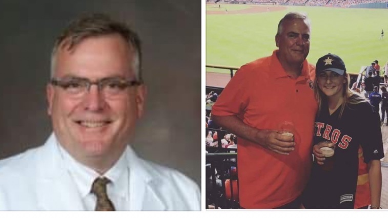 Dr. Eric Geibel, 59yo Interventional Radiologist,  HCA Clear Lake, Houston, TX, died of #covid19 1/8. He was an extraordinarily devoted father who loved to travel, swim and SCUBA dive, and putter in his garden. #healthcareheroes #WearAMask