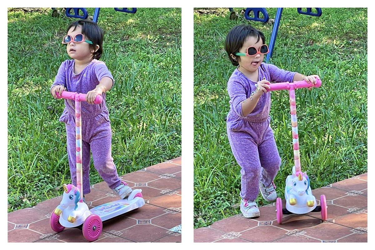 How in the world am I supposed to compete with her? . . . #the305twins #saturdayvibes #saturdaymorning #saturdaymood #scooter #scootering #scooterlife #scooters #sunglasses #sunglassesfashion #sunglasseslover  #playoutside #outdoorfun #outdoorphotography #outdooradventures #fun