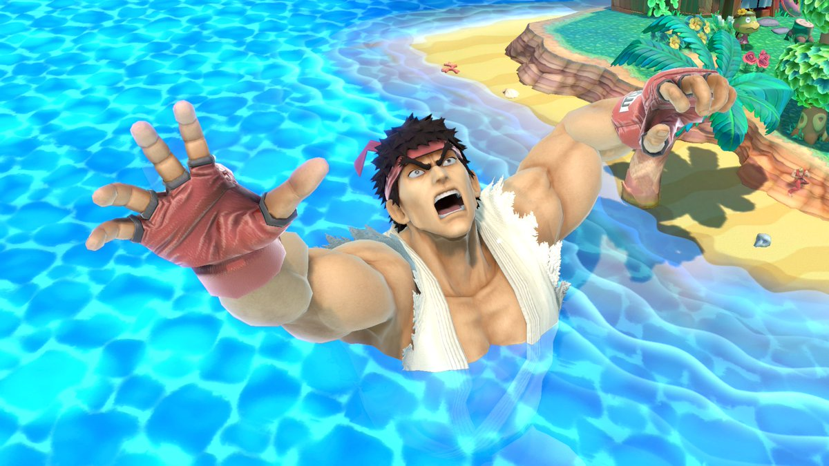 Having a good time at the beach #smashbrosultimate #giant #ryu
