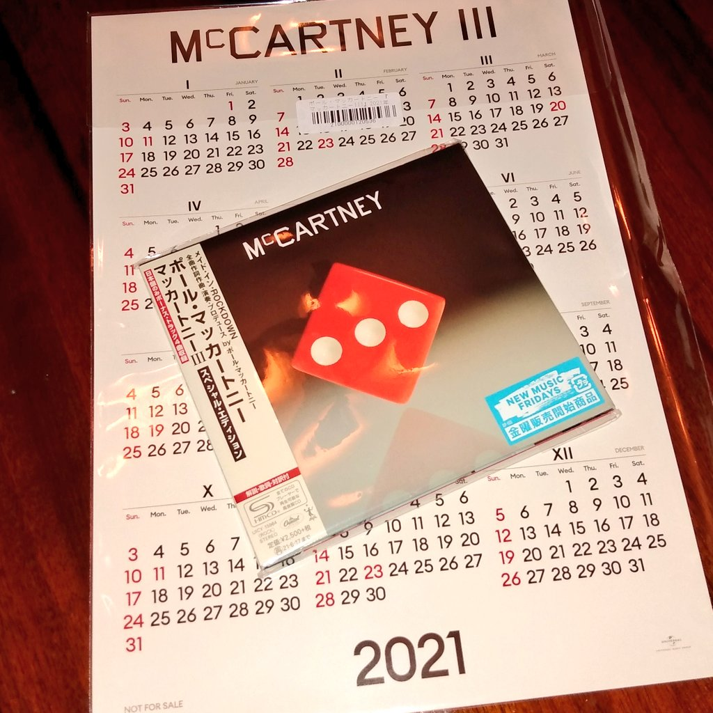 @pavementoyster @hammersmikey @charliebadger99 Check it out, boys. My #McCartneyIII calendar has finally arrived. All the way from Japan. Now I know what day it is. And it comes with a free CD with bonus tracks!