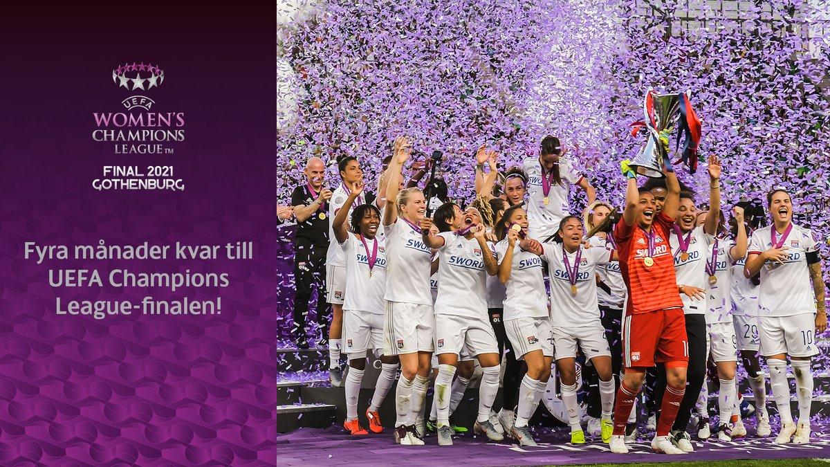 Fotboll av högsta klass när Europas två bästa lag möts i Göteborg. Nu är det bara fyra månader kvar innan UEFA Champions League-finalen avgörs på Gamla Ullevi den 16 maj! @UWCL
