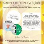 @BarendrechtnuNL - Dinsdag 26 januari (14:00 - 16:00u): Online themabijeenkomst voor ouderen uit of rondom #Barendrecht met als thema: online veiligheid (oa  phishing, babbeltrucs en ongewenst meekijken door vreemden bij het pinnen). Het doel is om ouderen beter te informeren. https://t.co/7dGqw5jOD4