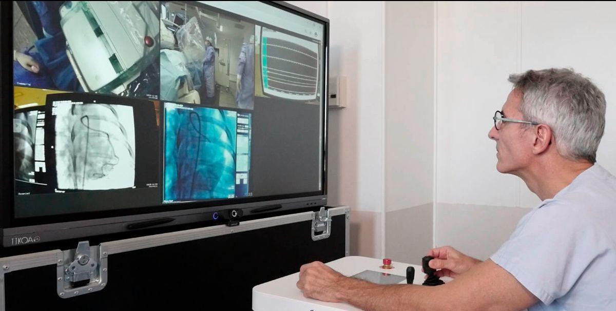 [Actu] @robocath réalise avec succès une angioplastie coronaire robotisée à plus de 100 km de distance, une première en Europe…