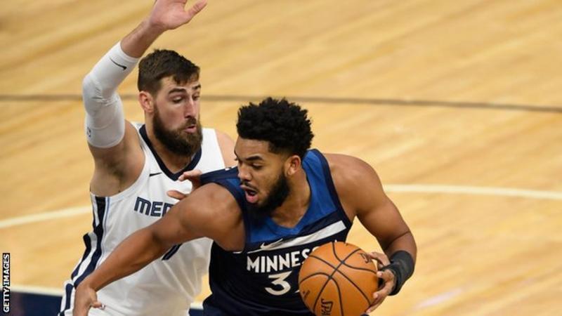 Minnesota Timberwolves player Karl-Anthony Towns :