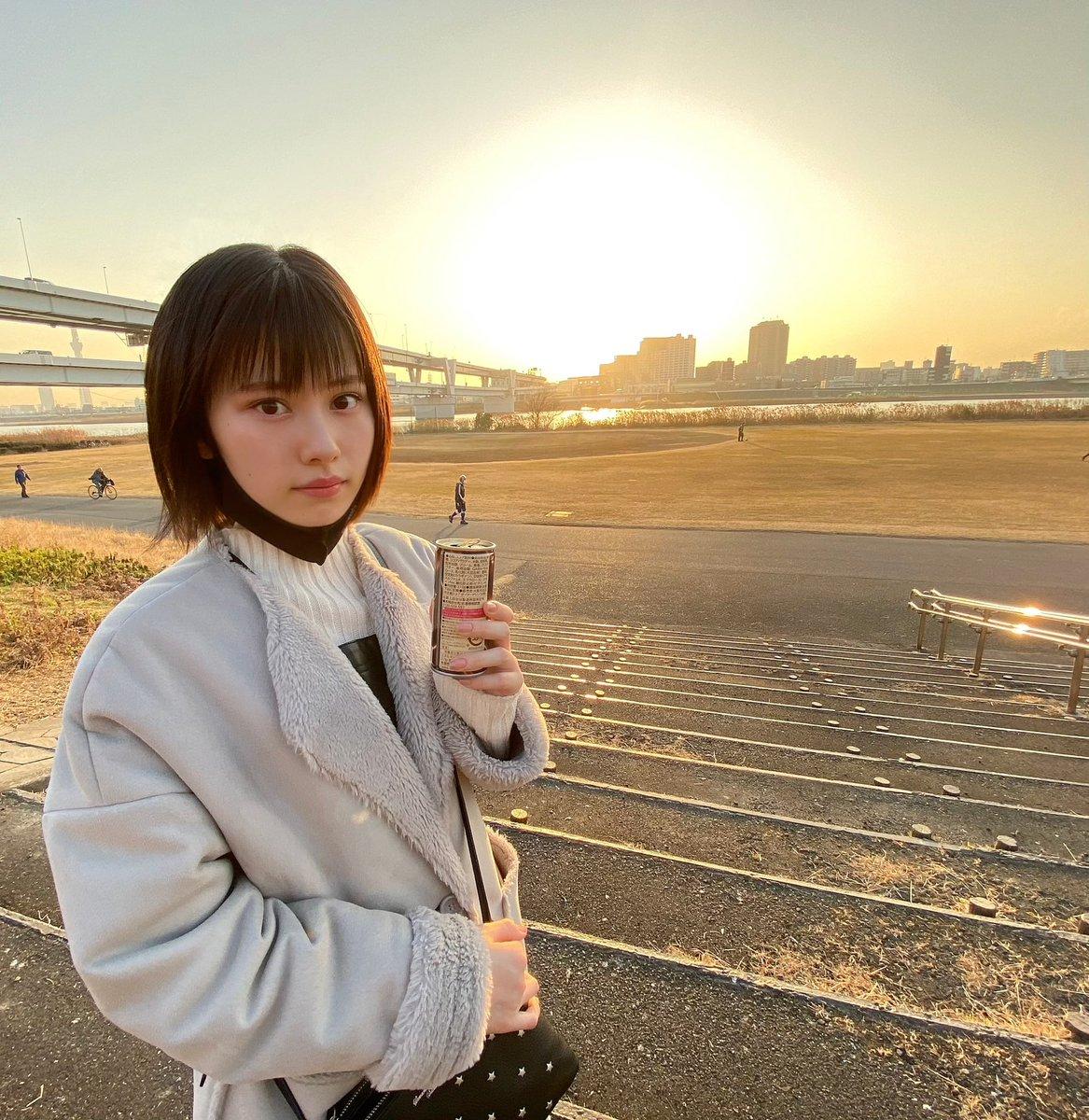 お散歩👟  #夕日 #sunset