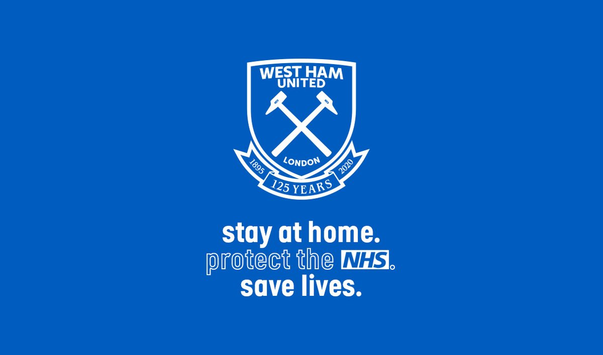 Replying to @WestHam: It's more important than ever to protect the NHS 💙  #WeAreOneTeam #StayHomeSaveLives