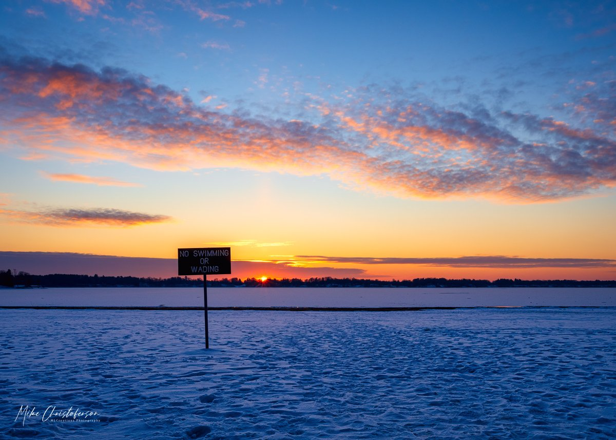Sign of Winter  Looks like there is no fun in the water now...    #landscape #sunset