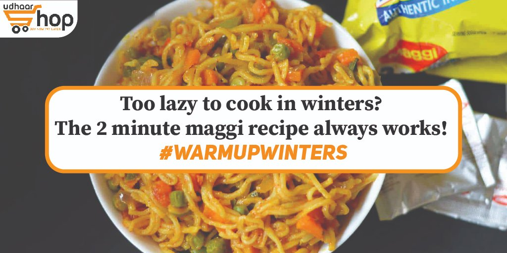 Amazingly amazing offers are presented for Maggi. Keep checking the app!  @MaggiIndia #UdhaarShop #WarmupWinetrs #maggi #noodles #winterfood #winter #UdhaarWallet #grocery #groceryapp #groceryshopping #groceryonline #groceryoncredit