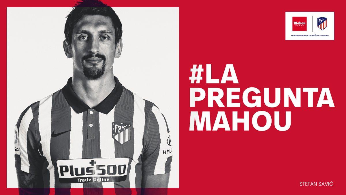 📲📩 ¡Tú puedes entrevistar a Stefan Savic! 😉 ¡Participa con el hashtag #LaPreguntaMahou de @futbolmahou y pregunta a nuestro jugador!   🔴⚪#AúpaAtleti