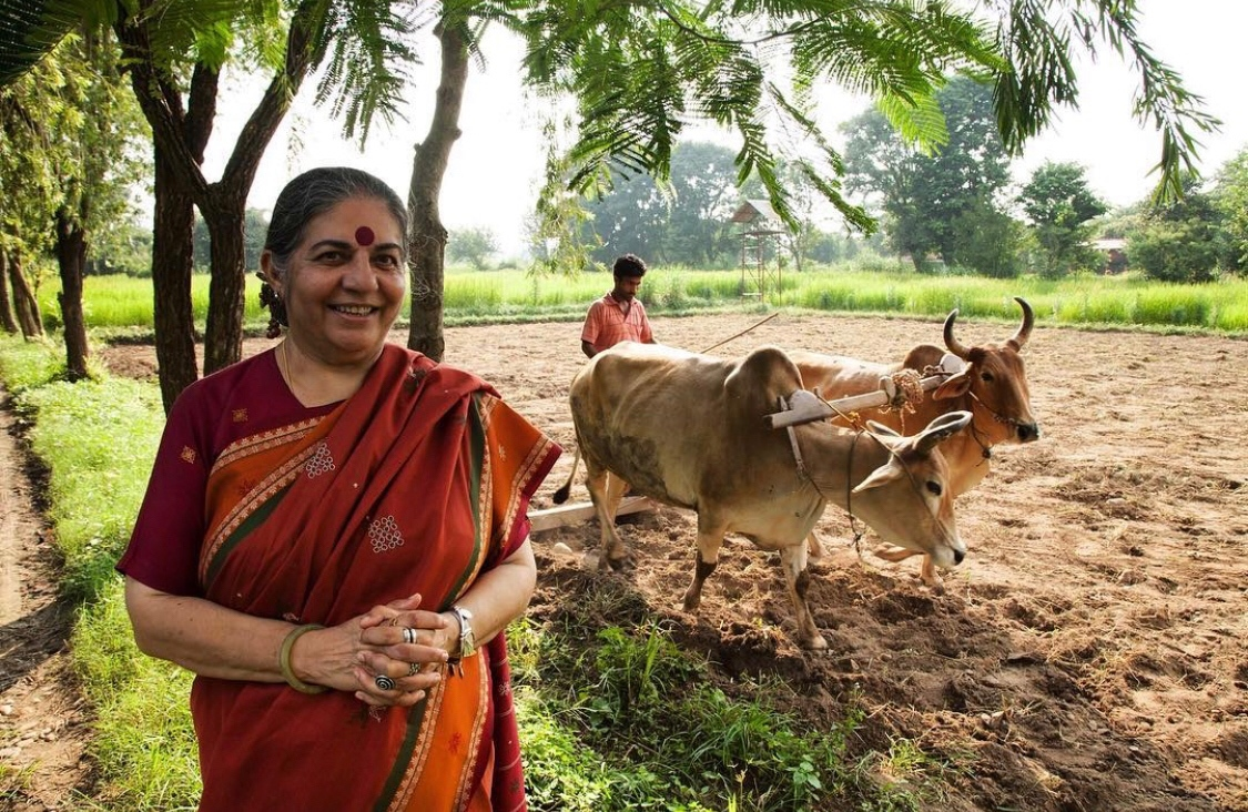 """You are not Atlas carrying the world on your shoulder. It is good to remember that the planet is carrying you.""  ― @drvandanashiva @NavdanyaInt  ⁠ Join Vandana at SEEDING LIBERATION ON THE LAND on 27 January with @soulfirefarm & @csmaje!  register here:"