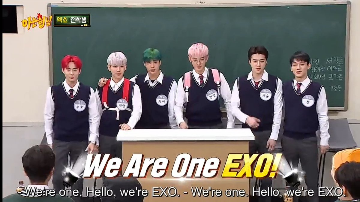 Knowing Brothers EXO OT6🖤  #ilovesehunnie #weareoneEXO
