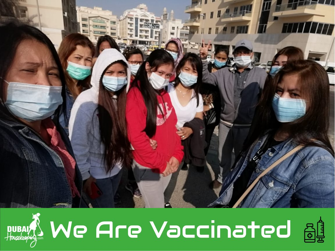Knowledge is a treasure. Practice is the key to it. Our CEO got vaccinated along with our team first batch.  We are as safe, as our society is.  We stand in solidarity with @dha_dubai & hope for a better 2021. #vaccination #covidvaccine #covidvaccine2021✔️ #COVID19  #cleaners
