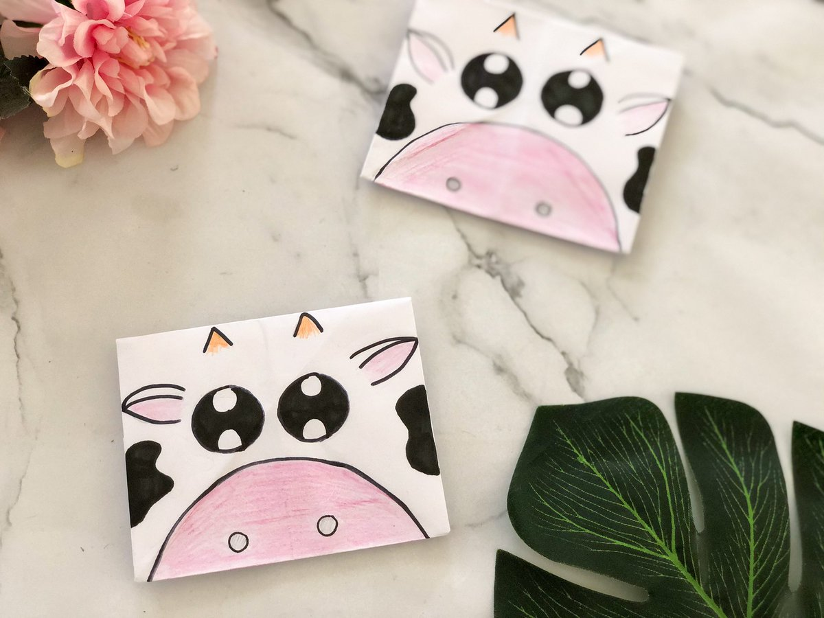 Cow Origami Envelope for #Yearoftheox   Watch how to make here:   #ChineseNewYear #origami #CNY
