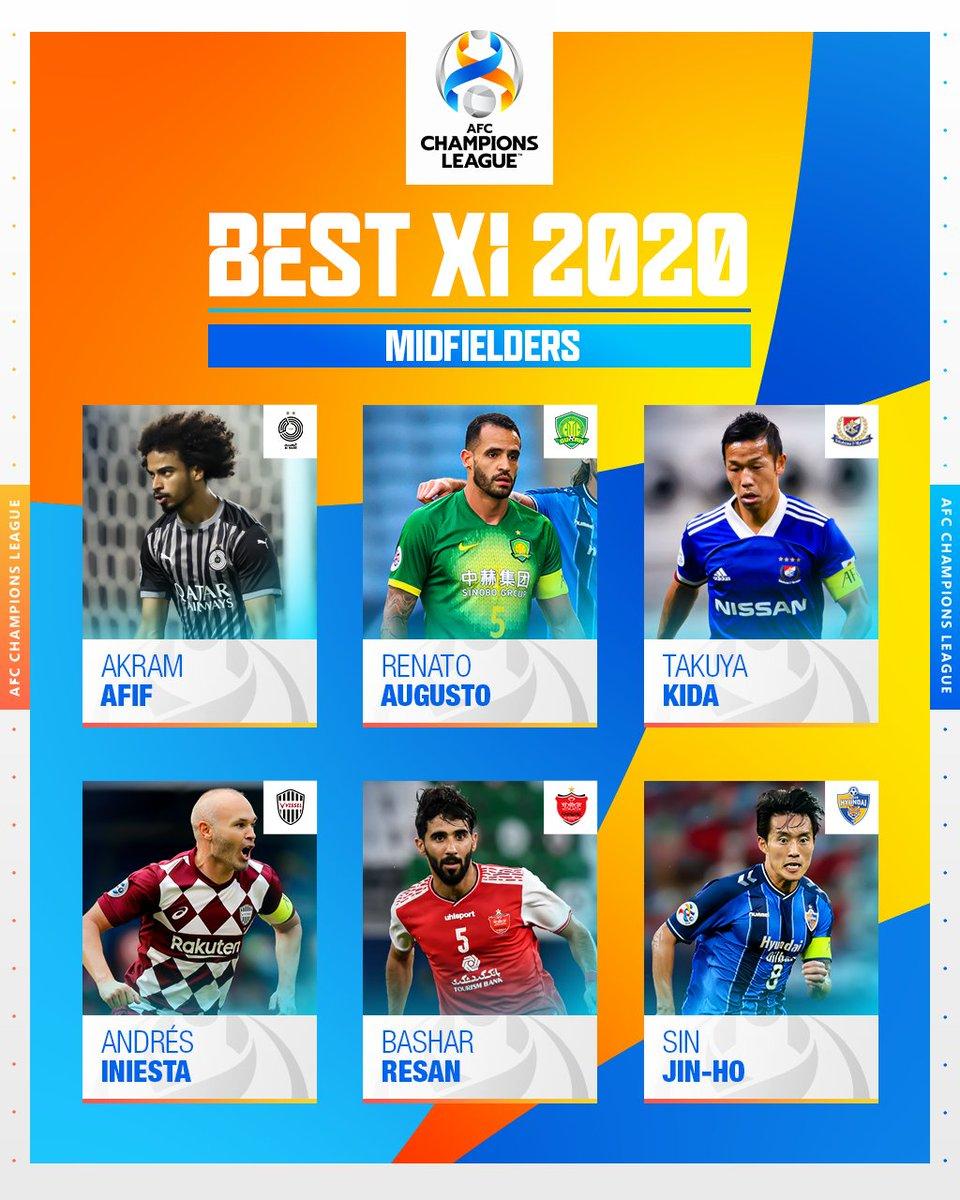 أكرم عفيف وسانتي كازورلا وبشار رسن يدخلون التصويت لأفضل لاعب وسط في #دوري_أبطال_آسيا 2020.  #استاد_الدوحة @AlsaddSC  @QatarSportClub
