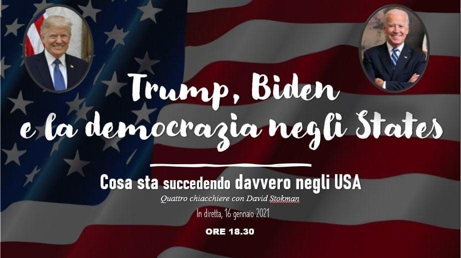 Oggi parliamo di #democrazia in #USA! Segui la diretta sulla nostra pagina #Facebook!   #AmericaOrTrump #BidenHarris2020 #Trump #Trump2020 #Biden