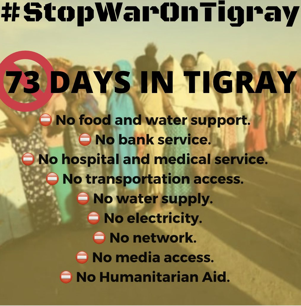 It is time for Western countries & African democracies to speak directly about the dangerous path down which @AbiyAhmedAli has sent Ethiopia. It's been 73+ days of #TigrayGenocide #BidenTakeAction  @AmbMKimani @UN