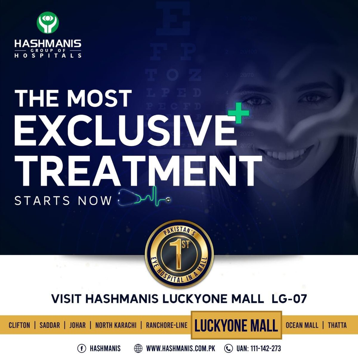 test Twitter Media - We have bought a new concept to a mall, give us a visit and witness it yourself!   We are located at, Lower Ground - 07, Luckyone Mall  For more details call us at:  UAN: (021) 111-142-273 Ext: 444  #HashmanisHospital #LuckyOne #NewBranch #lasiksurgery #femtolasik https://t.co/qydUFpGRye