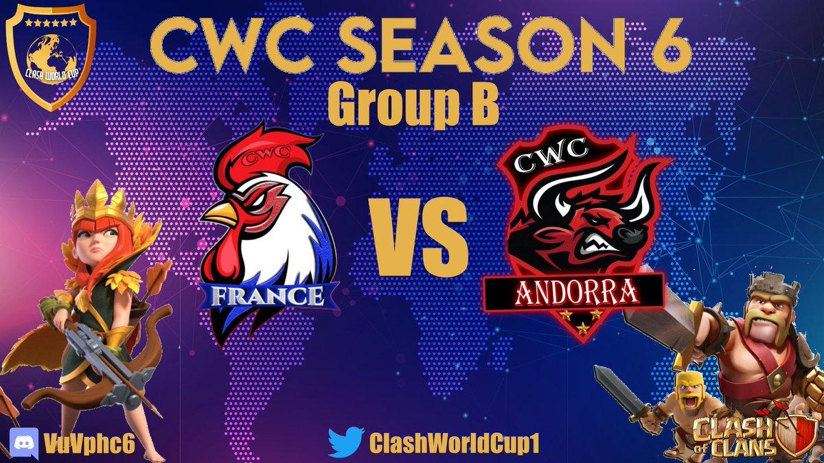 Salut la communauté !!!  Une nouvelle saison de la coupe du monde (@ClashWorldCup1) commence !! Retrouvez moi en live à partir de 21h30 pour le 1er match du groupe B     #worldcup #ClashOfClans
