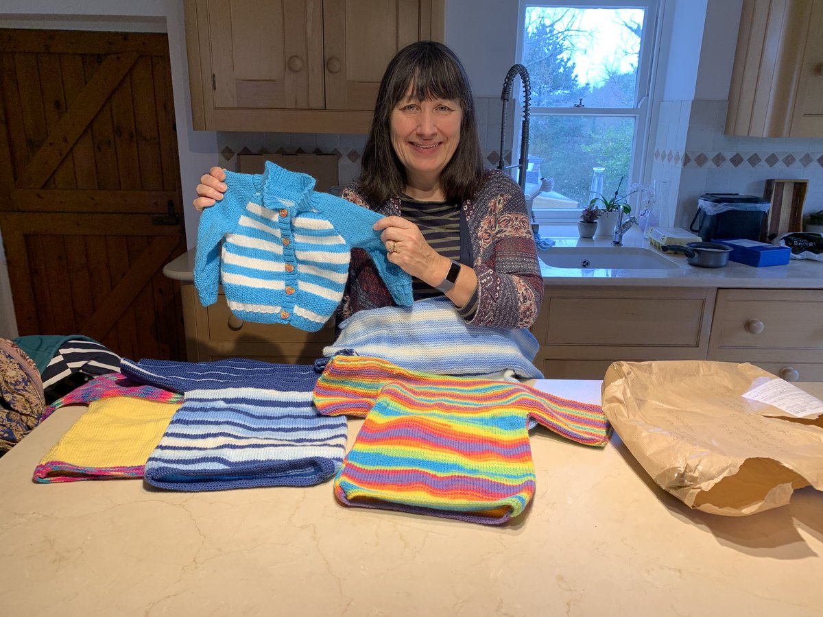 Lovely knits today from Rosemary in #Jersey. Taking them to the Ferryspeed store now: thank you, Rosemary from every little child who will feel loved and hope because of what you have done. Come on, Jersey, let's get a Tumaini Charity Committee going on your beautiful island!