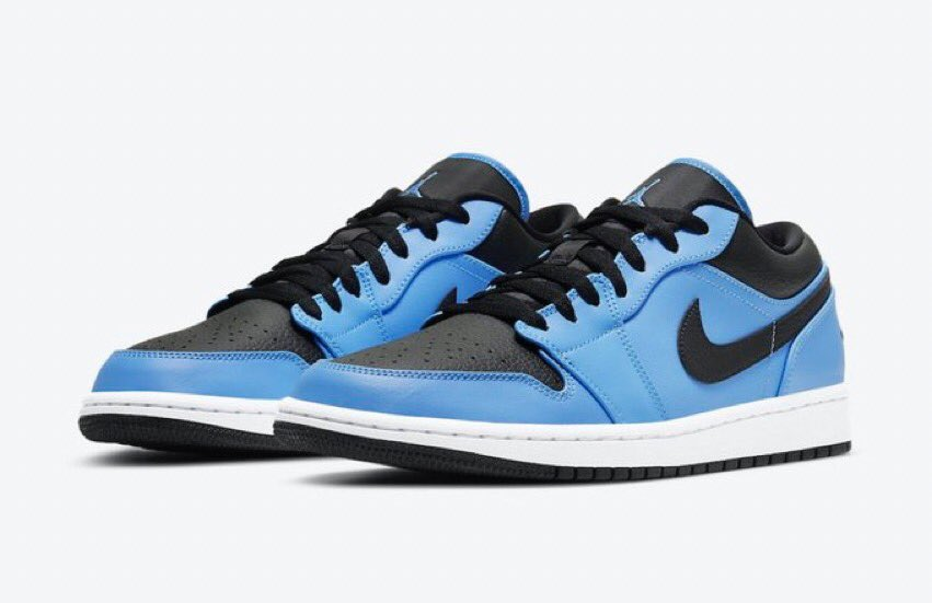 """Select sizes restocked  AJ1 Low """"UNC""""  Buy Here: https://t.co/PTw1hQ0SlC https://t.co/qSDIxJKJpw"""