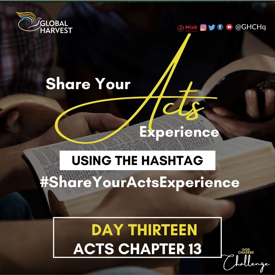 #ShareYourActsExperience #Day13  One thing you should not forget today is to catch-up on our #GodsChasersChallenge.  STUDY...be diligent to present yourself approved to God...  #BibleChallenge #ActsOfTheApostles #Acts #gharvest