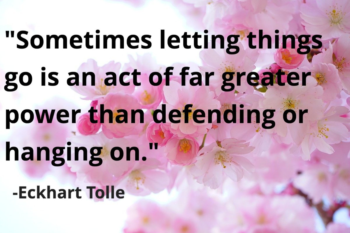 Sometimes letting things go is an act of far greater power than defending or hanging on. #awareness #Saturdaymorning