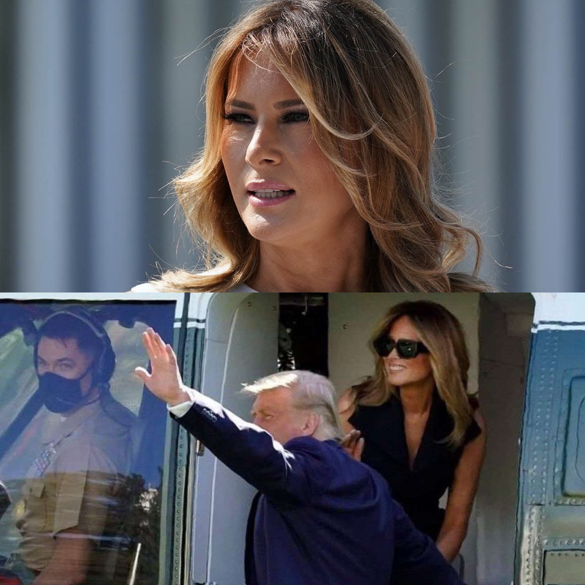 As we enter the final days of the #trump administration I'm starting to think not enough time or copy has been put into his clear use of a fake Melania- fascinating.  #AmericaOrTrump #Inauguration2021 #TrumpTreason
