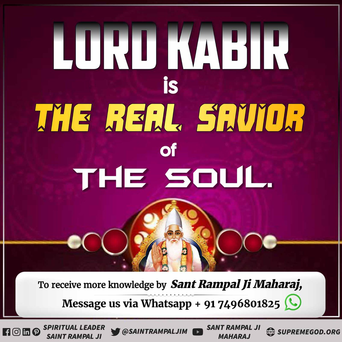 True worship of #SupremeGodKabir can end the cycle of birth and death. Take refuge in Saint Rampal Ji Maharaj to attain salvation, eternal peace and happiness. For more information visit Satlok Ashram Youtube Channel!...