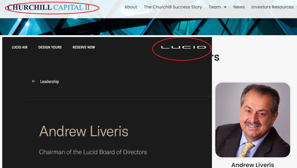 @yatesinvesting @MrZackMorris   Andrew Liveris is on both websites. #Lucid $CCIV