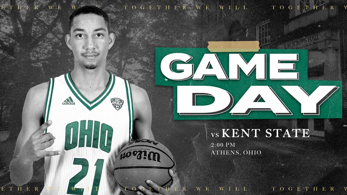 🏀😼Wake up! It's GAME DAY!!  🆚 Kent State  🕑 2 p.m. ET 📍 Athens, Ohio   🏟️ Convocation Center 📺 ESPN+ https://t.co/PBUQd9cPK1 📻 https://t.co/jy90hLUbiY 📈 https://t.co/GaGRYCzbXV 📰 Digital Guide https://t.co/szxXM7KjXn 🎟️ Virtual Sellout https://t.co/0fI0jquH5y  #OUohyeah https://t.co/D6RwLSc3k6