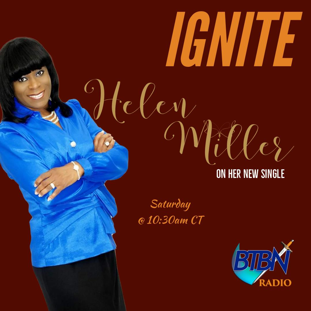 We've got anointed gospel artiste Helen Miller-Best inside IGNITE!!!! Join us as she shares about her New Single 'I'm Still Here'.@hmillerpraiser   #btbnradiolive #ignite #SaturdayVibes #Jesus #Praise #christianradio
