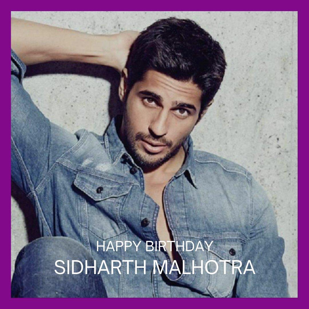 Happy birthday to the strikingly charming and talented @SidMalhotra!   #BirthdayWishes #birthday #SidharthMalhotra #SidharthMalhotraBirthday #Bollywood
