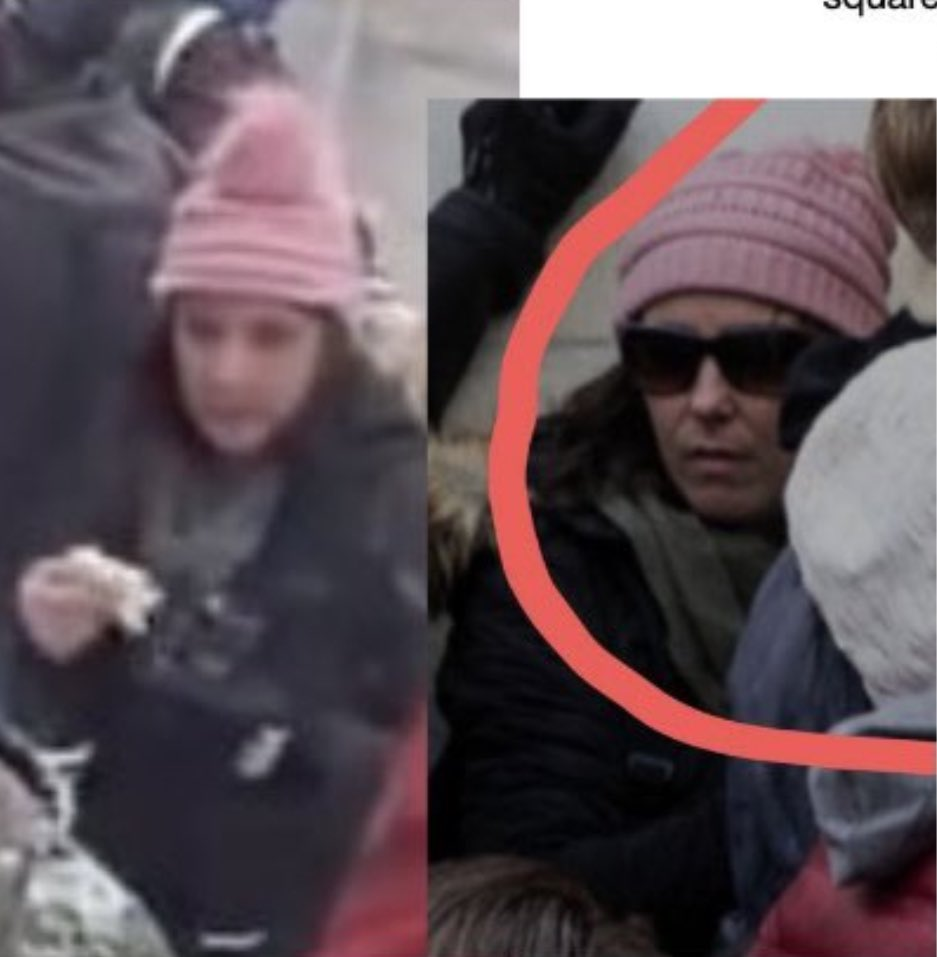 Can you identify this woman? FBI is searching for her. Used a bullhorn to give detailed location inside of the Capitol and helped to break a Capitol window for entry. @FBI
