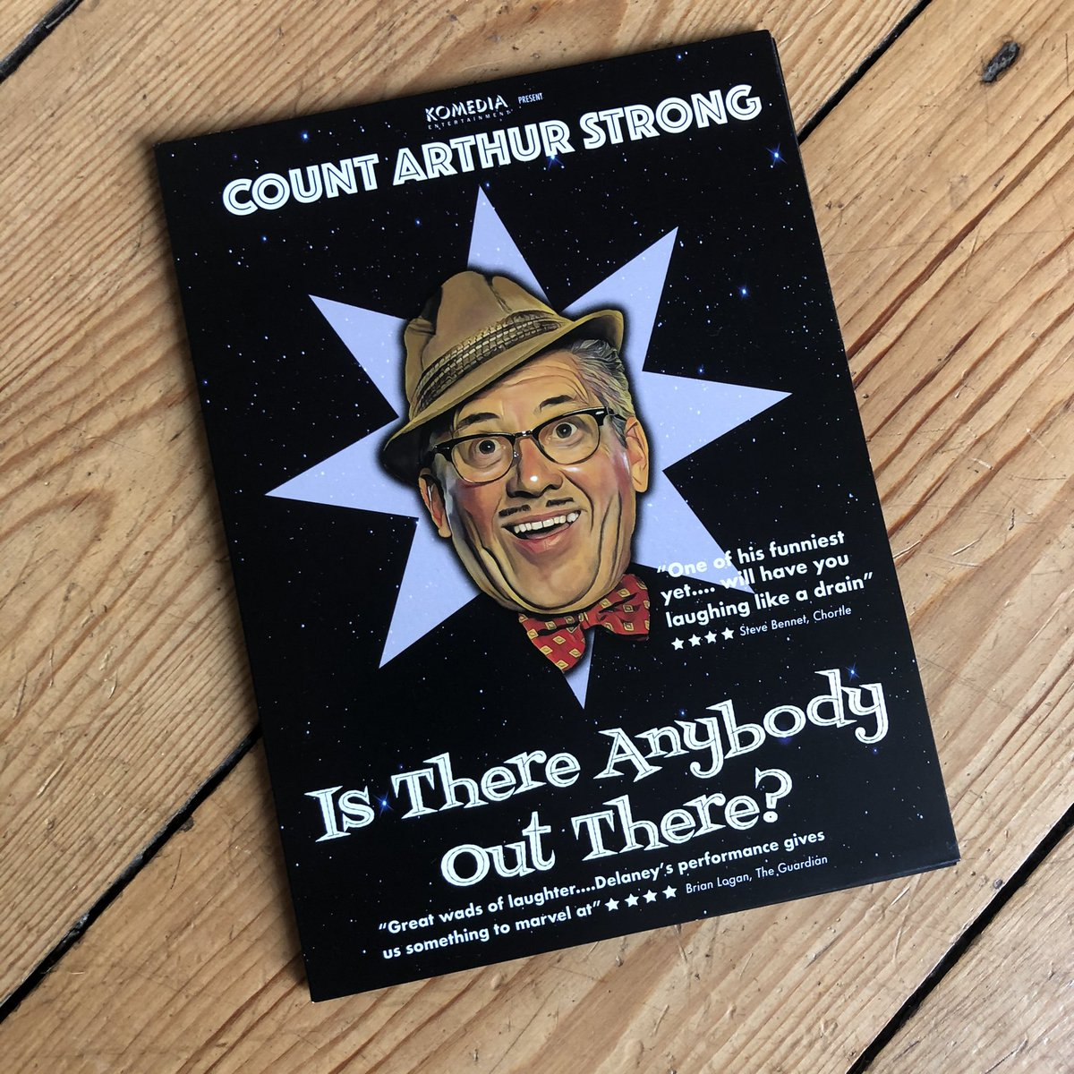 Thoroughly recommend the best live comedy DVD released in 2020* @Arthur_Strong Is There Anybody Out there is a laugh a minute from finish to start (you'll get that if you get it) It will cheer you up this lockdown.#comedy #fun #SaturdayMotivation *that's right isn't it @chortle?