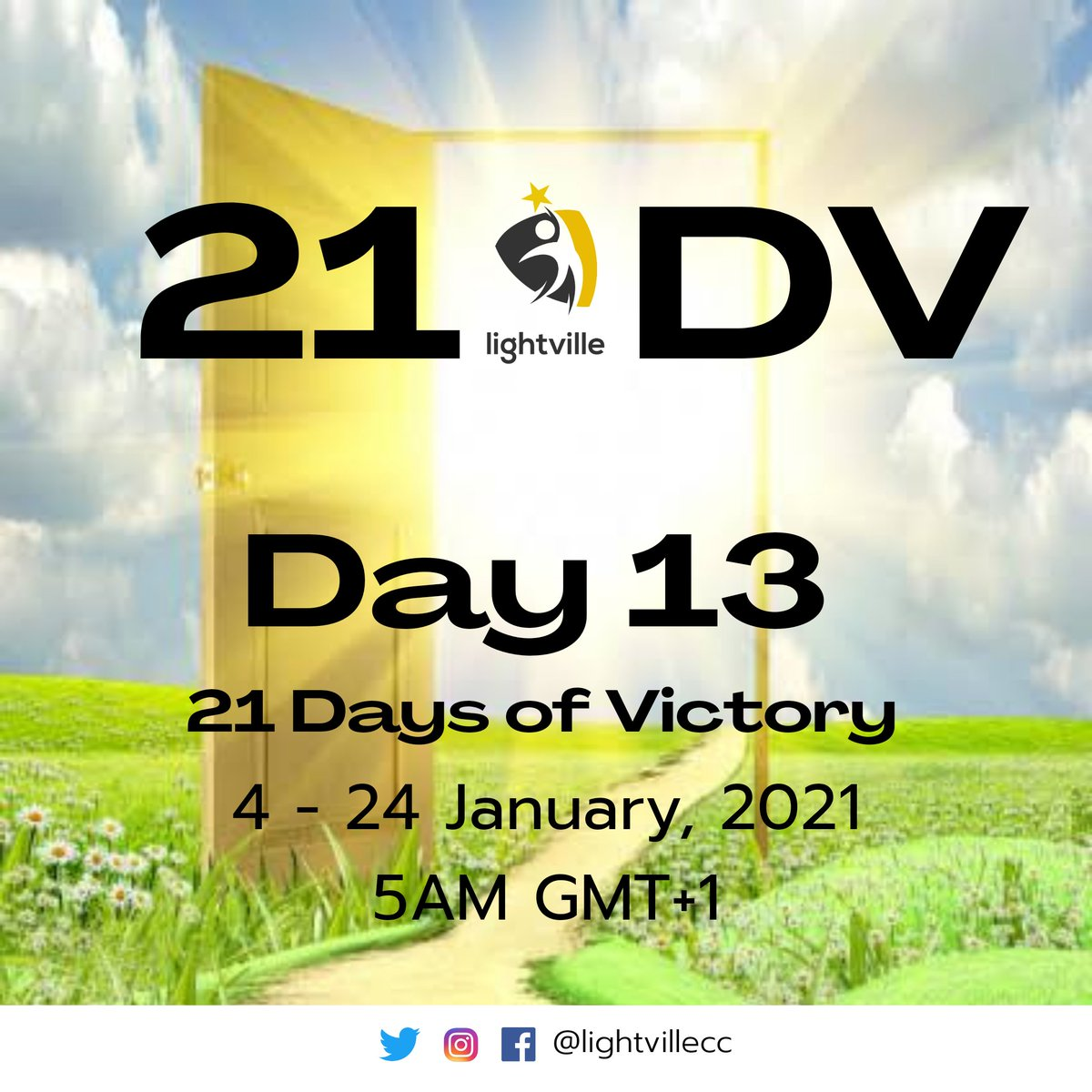 We're excited it's Day 13 of 21 Days of Victory.  #Day13 #21DV2021 #21DaysOfVictory #Lightville