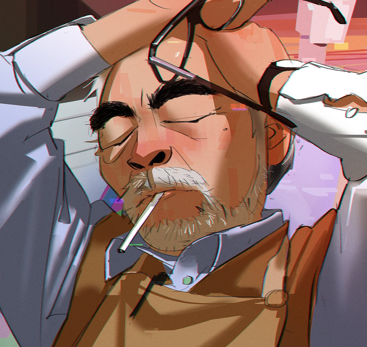 Legend says that if you draw Hayao Miyazaki struggling, you get cure of art blocks.