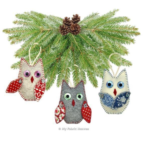 OWL Christmas Tree Decoration PDF Sewing PATTERN & Full | Etsy   #myfabricheaven #sewing #handmade #flockbn #KPRS #SNRTG #eshopsuk #BTRTG #sewingaddict  #sewinglove #sewersoftwitter #handmadewithlove #isew #design #sewsewsew #sewistsoftwitter #sewingforkids