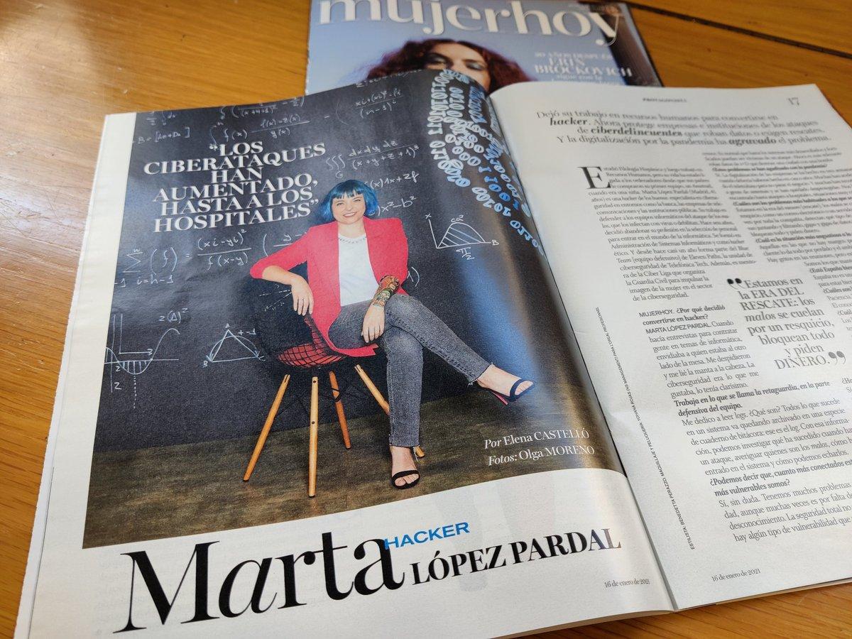 📣🗞️ En @Telefonica @ElevenPaths hay muchas mujeres inspiradoras. En tu quiosco de confianza, @Mujerhoy entrevista a Marta López #ciberseguridad #SomosTelefónica #womenintech