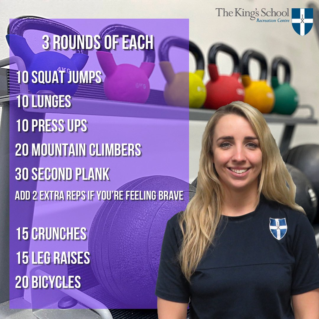 With the weather not being the best outside today 👎🏼🌧  Dont give up on your #SaturdaySession 💪🏼 give Amanda's Home Workout go!  #fitness #workout #saturdayvibes #saturdaymotivation #fitspo #homeworkout #kingsrec #saturday