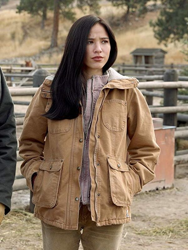 """American actress """"Kelsey Chow"""" wore this jacket in tv series """"Yellowstone"""". Checkout:  Another for women:   #YellowstoneTV #Yellowstone #fashionblogger #Trending #TrendingNow #SaturdayMorning #SaturdayMotivation #SaturdayThoughts"""