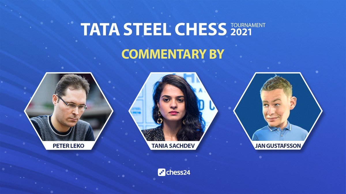 test Twitter Media - Peter, Tania & Jan are commentating live on Carlsen-Firouzja and the other #TataSteelChess Round 1 games! The action starts in 1 hour:   https://t.co/pRfyggzkrc  #c24live https://t.co/fSctRqxedG
