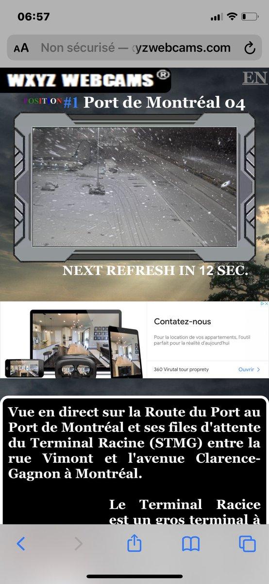 Voir les toutes les #webcams en direct de #Montreal . #mtlwx #MeteoQc https://t.co/XatGqNfKYB https://t.co/jJaL91JmMR