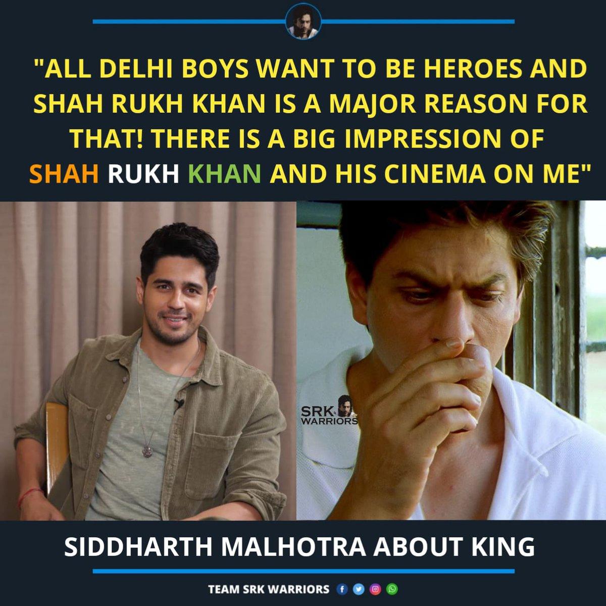 Wishing a Very Happy Birthday to @SidMalhotra!❤  #SidharthMalhotra #ShahRukhKhan #SRK