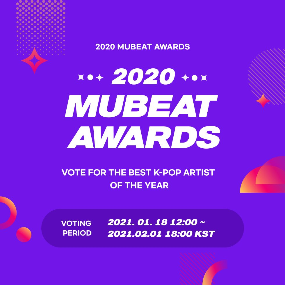 🏆 2020 MUBEAT AWARDS 🏆  MONSTA X and WONHO might get nominated in some of the categories on mubeat awards. It will start on January 18 at 12PM KST.   Heartbeats can be obtained by watching ads. The number of votes is unlimited so start collecting heartbeats now!